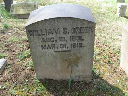 GREEN, WILLIAM  S. - Northampton County, Pennsylvania | WILLIAM  S. GREEN - Pennsylvania Gravestone Photos