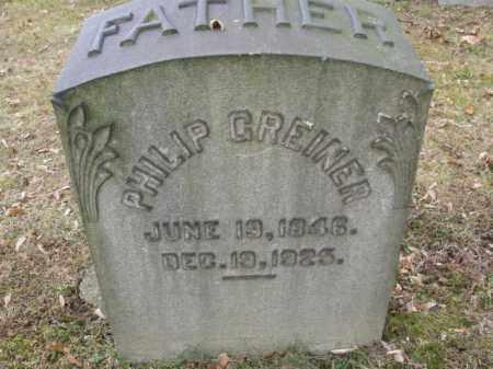 GREINER, PHILIP - Northampton County, Pennsylvania | PHILIP GREINER - Pennsylvania Gravestone Photos