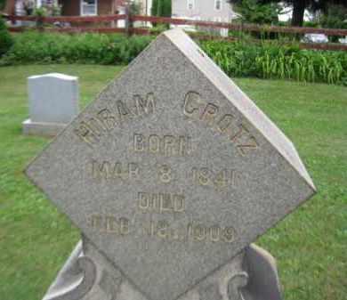 GROTZ, HIRAM - Northampton County, Pennsylvania | HIRAM GROTZ - Pennsylvania Gravestone Photos