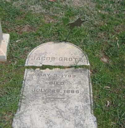 GROTZ, JACOB - Northampton County, Pennsylvania | JACOB GROTZ - Pennsylvania Gravestone Photos