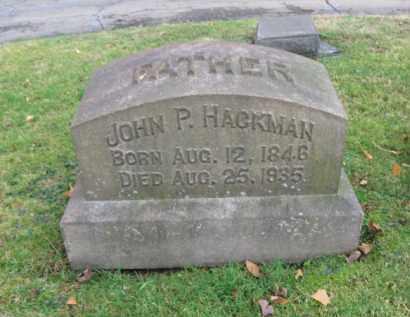HACKMAN, JOHN P. - Northampton County, Pennsylvania   JOHN P. HACKMAN - Pennsylvania Gravestone Photos