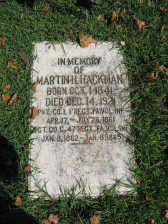 HACKMAN, MARTIN H. - Northampton County, Pennsylvania | MARTIN H. HACKMAN - Pennsylvania Gravestone Photos