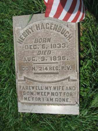 HAGENBUCH, HENRY - Northampton County, Pennsylvania | HENRY HAGENBUCH - Pennsylvania Gravestone Photos