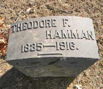HAMMAN, THEODORE F. - Northampton County, Pennsylvania   THEODORE F. HAMMAN - Pennsylvania Gravestone Photos