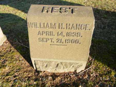 HANGE, WILLIAM H. - Northampton County, Pennsylvania | WILLIAM H. HANGE - Pennsylvania Gravestone Photos