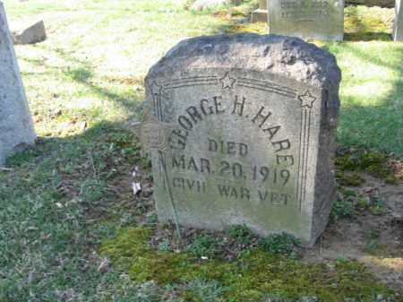 HARE, GEORGE H. - Northampton County, Pennsylvania | GEORGE H. HARE - Pennsylvania Gravestone Photos