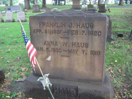 HAUS (CW), FRANKLIN J. - Northampton County, Pennsylvania | FRANKLIN J. HAUS (CW) - Pennsylvania Gravestone Photos