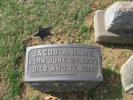HAWK, JACOB A. - Northampton County, Pennsylvania   JACOB A. HAWK - Pennsylvania Gravestone Photos