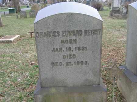 HECHT, CHARLES EDWARD - Northampton County, Pennsylvania | CHARLES EDWARD HECHT - Pennsylvania Gravestone Photos
