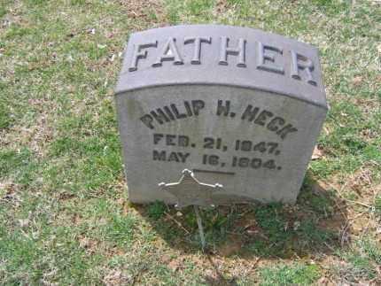 HECK, PHILIP  H. - Northampton County, Pennsylvania | PHILIP  H. HECK - Pennsylvania Gravestone Photos