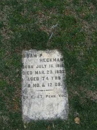 HECKMAN, ADAM P. - Northampton County, Pennsylvania | ADAM P. HECKMAN - Pennsylvania Gravestone Photos
