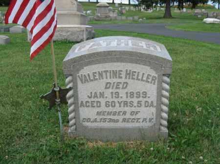 HELLER (CW), VALLENTINE - Northampton County, Pennsylvania | VALLENTINE HELLER (CW) - Pennsylvania Gravestone Photos