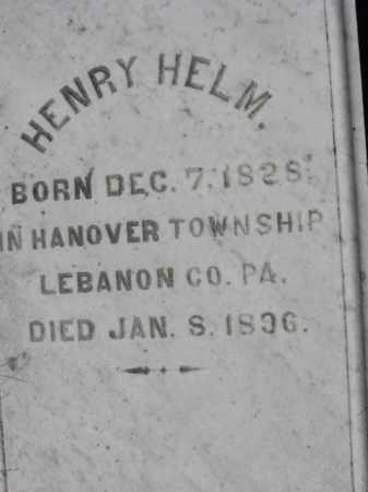 HELM, HENRY - Northampton County, Pennsylvania | HENRY HELM - Pennsylvania Gravestone Photos