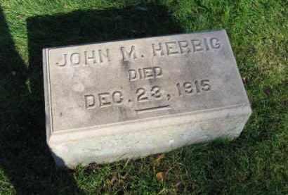 HERBIG, JOHN M. - Northampton County, Pennsylvania | JOHN M. HERBIG - Pennsylvania Gravestone Photos