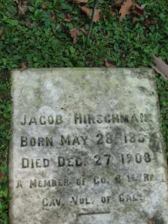 HIRSHMAN (CW), JACOB - Northampton County, Pennsylvania   JACOB HIRSHMAN (CW) - Pennsylvania Gravestone Photos