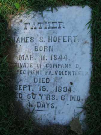 HOFERT, JAMES  S. - Northampton County, Pennsylvania | JAMES  S. HOFERT - Pennsylvania Gravestone Photos