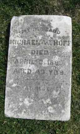 HOFF, MICHAEL W. - Northampton County, Pennsylvania   MICHAEL W. HOFF - Pennsylvania Gravestone Photos