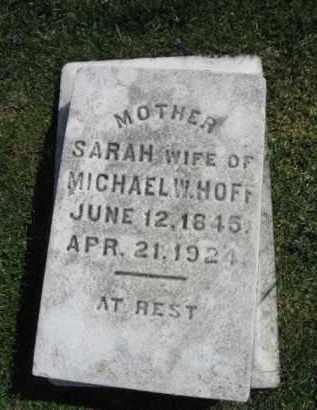 HOFF, SARAH - Northampton County, Pennsylvania | SARAH HOFF - Pennsylvania Gravestone Photos