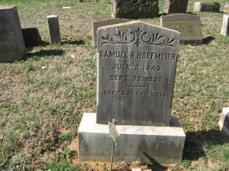 HOFFMEIER, SAMUEL B. - Northampton County, Pennsylvania | SAMUEL B. HOFFMEIER - Pennsylvania Gravestone Photos