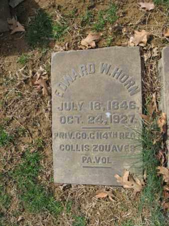 HORN, EDWARD W. - Northampton County, Pennsylvania | EDWARD W. HORN - Pennsylvania Gravestone Photos