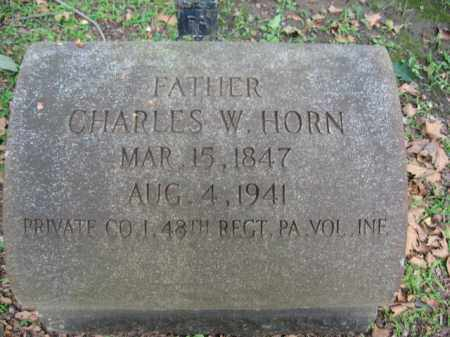 HORN, PVT. CHARLES W. - Northampton County, Pennsylvania | PVT. CHARLES W. HORN - Pennsylvania Gravestone Photos