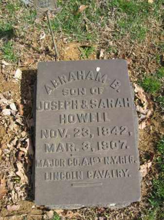 HOWELL, MAJOR ABRAHAM B. - Northampton County, Pennsylvania | MAJOR ABRAHAM B. HOWELL - Pennsylvania Gravestone Photos