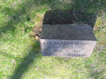 HOYT (CW), ALEXANDER W. - Northampton County, Pennsylvania | ALEXANDER W. HOYT (CW) - Pennsylvania Gravestone Photos