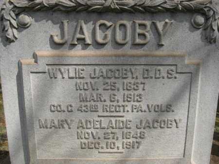 JACOBY, WYLIE - Northampton County, Pennsylvania | WYLIE JACOBY - Pennsylvania Gravestone Photos