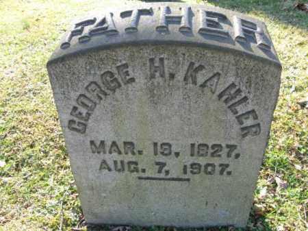 KAHLER, GEORGE H. - Northampton County, Pennsylvania | GEORGE H. KAHLER - Pennsylvania Gravestone Photos