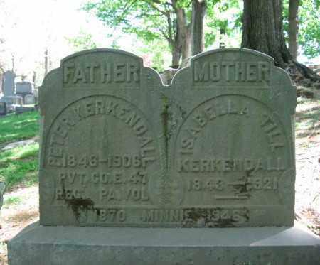 KERKENDALL, ISABELLA - Northampton County, Pennsylvania | ISABELLA KERKENDALL - Pennsylvania Gravestone Photos