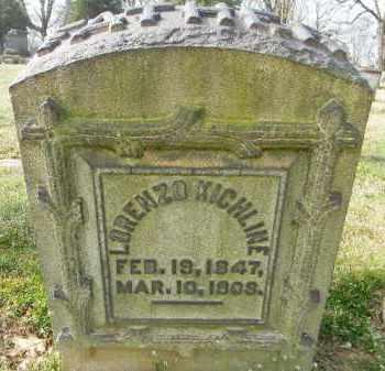 KICHLINE, LORENZO - Northampton County, Pennsylvania | LORENZO KICHLINE - Pennsylvania Gravestone Photos