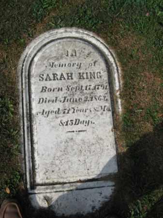 KING, SARAH - Northampton County, Pennsylvania   SARAH KING - Pennsylvania Gravestone Photos