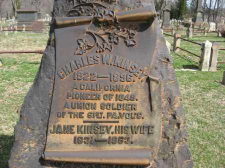 KINSEY, JANE - Northampton County, Pennsylvania | JANE KINSEY - Pennsylvania Gravestone Photos