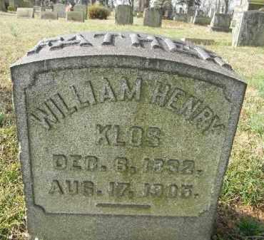 KLOS, WILLIAM HENRY - Northampton County, Pennsylvania   WILLIAM HENRY KLOS - Pennsylvania Gravestone Photos
