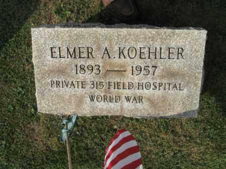 KOEHLER (WW I), ELMER A. - Northampton County, Pennsylvania | ELMER A. KOEHLER (WW I) - Pennsylvania Gravestone Photos