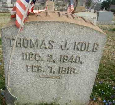KOLB (CW), THOMAS J. - Northampton County, Pennsylvania | THOMAS J. KOLB (CW) - Pennsylvania Gravestone Photos
