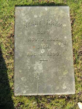 KRAM, HENRY - Northampton County, Pennsylvania | HENRY KRAM - Pennsylvania Gravestone Photos