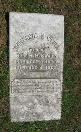 WEBER KRAUSE, HORTENSIA   V. - Northampton County, Pennsylvania | HORTENSIA   V. WEBER KRAUSE - Pennsylvania Gravestone Photos