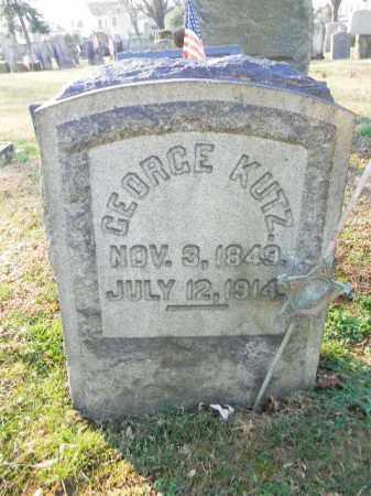 KUTZ, GEORGE - Northampton County, Pennsylvania   GEORGE KUTZ - Pennsylvania Gravestone Photos