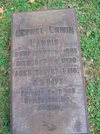 LANDIS, GEORGE ERWIN - Northampton County, Pennsylvania | GEORGE ERWIN LANDIS - Pennsylvania Gravestone Photos
