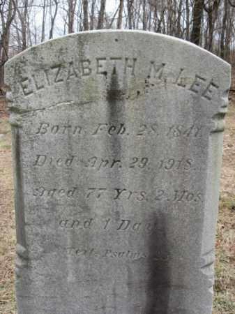 LEE, ELIZABETH M. - Northampton County, Pennsylvania   ELIZABETH M. LEE - Pennsylvania Gravestone Photos