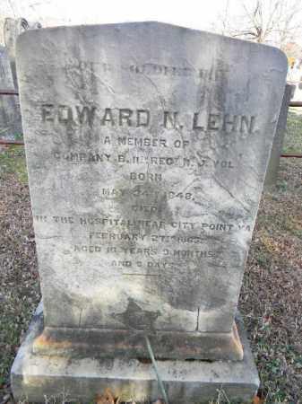 LEHN (LAHN) (CW), EDWARD N. - Northampton County, Pennsylvania | EDWARD N. LEHN (LAHN) (CW) - Pennsylvania Gravestone Photos