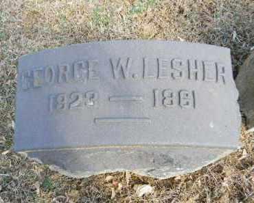 LESHER, GEORGE W. - Northampton County, Pennsylvania | GEORGE W. LESHER - Pennsylvania Gravestone Photos