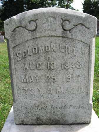 LILL, SOLOMON - Northampton County, Pennsylvania   SOLOMON LILL - Pennsylvania Gravestone Photos