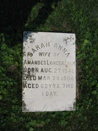 LONGENBACH, SARAH  ANNA - Northampton County, Pennsylvania | SARAH  ANNA LONGENBACH - Pennsylvania Gravestone Photos