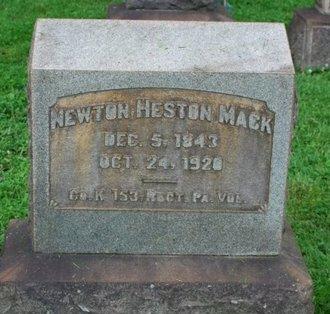 MACK (CW), NEWTON HESTON - Northampton County, Pennsylvania | NEWTON HESTON MACK (CW) - Pennsylvania Gravestone Photos
