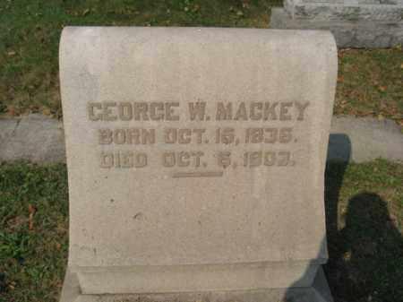 MACKEY, GEORGE W. - Northampton County, Pennsylvania | GEORGE W. MACKEY - Pennsylvania Gravestone Photos
