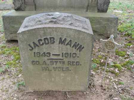 MANN, JACOB - Northampton County, Pennsylvania | JACOB MANN - Pennsylvania Gravestone Photos