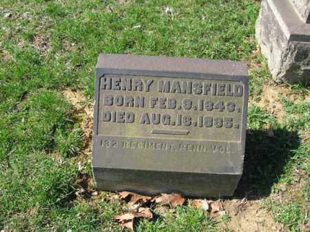 MANSFIELD, HENRY - Northampton County, Pennsylvania | HENRY MANSFIELD - Pennsylvania Gravestone Photos