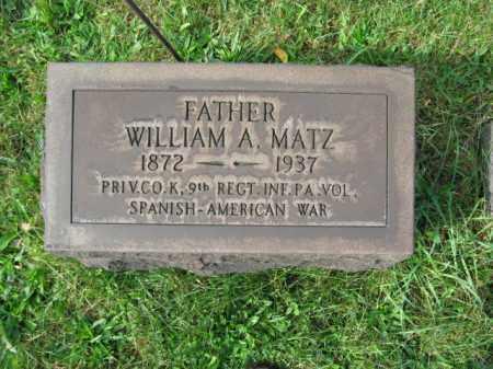 MATZ, WILLIAM A. - Northampton County, Pennsylvania | WILLIAM A. MATZ - Pennsylvania Gravestone Photos